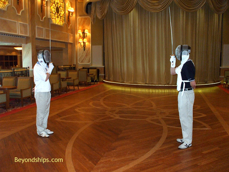 Fenching class in Cruise ship Queen Victoria Queens Room