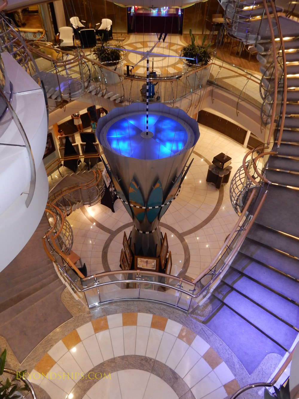 Cruise ship Mariner of the Seas, stairs