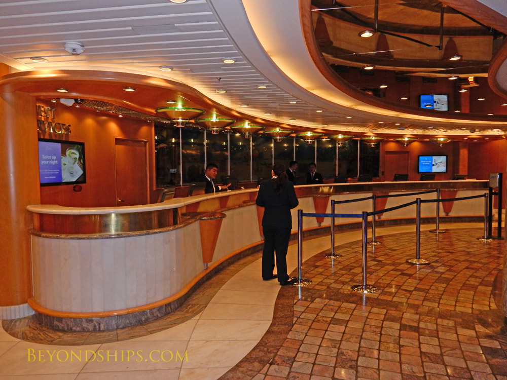 Cruise ship Mariner of the Seas, guest services