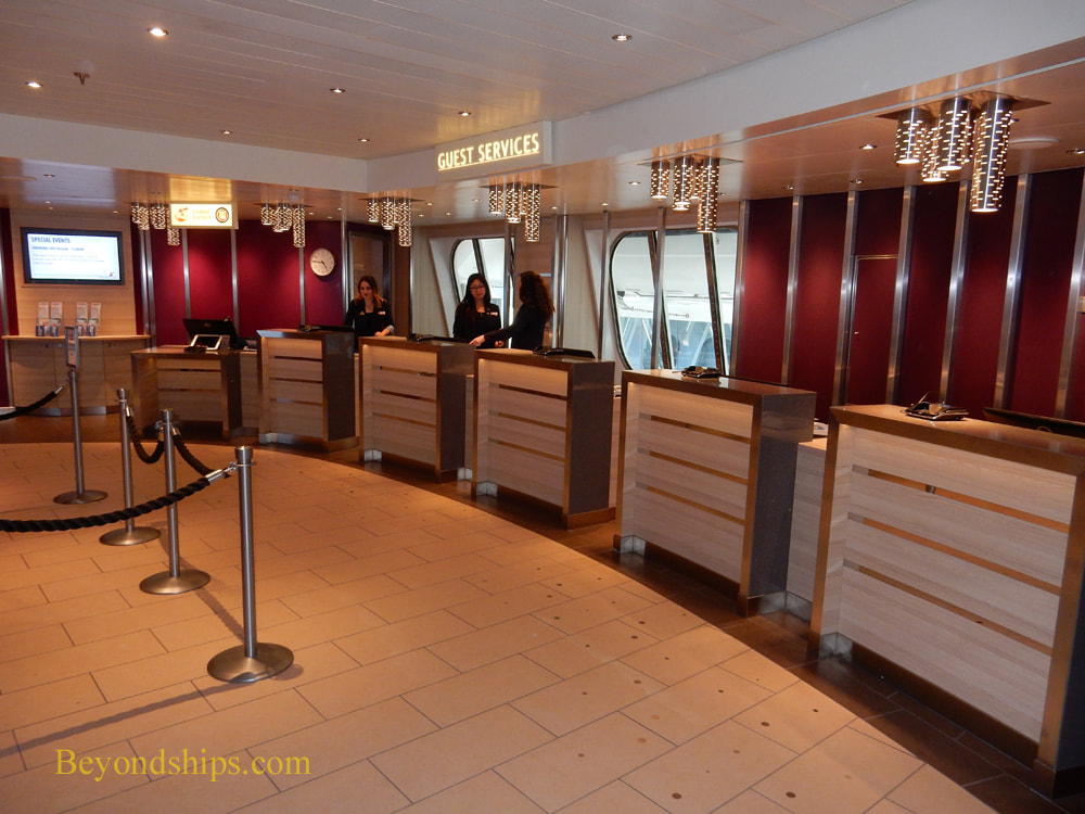 Guest Relations desk on on cruise ship Carnival Horizon