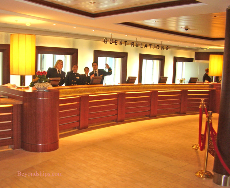 Cruise ship Oriana, guest relations desk