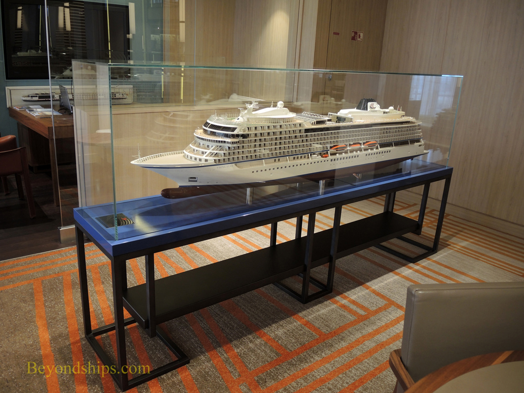 Cruise ship Viking Star ship model