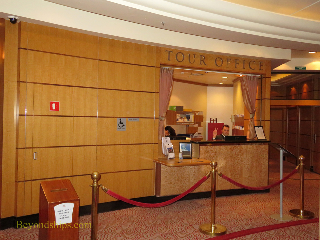 Queen Mary 2, Tour Office