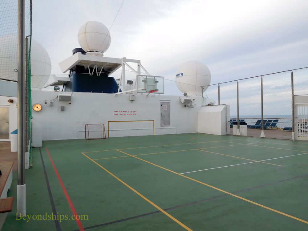 Cruise ship Celebrity Constellation basketball court