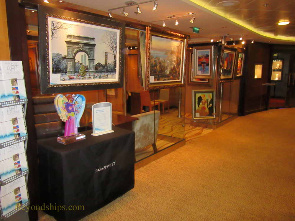 Celebrity Summit cruise ship, art gallery