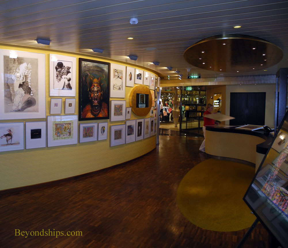 Oosterdam cruise ship, art gallery
