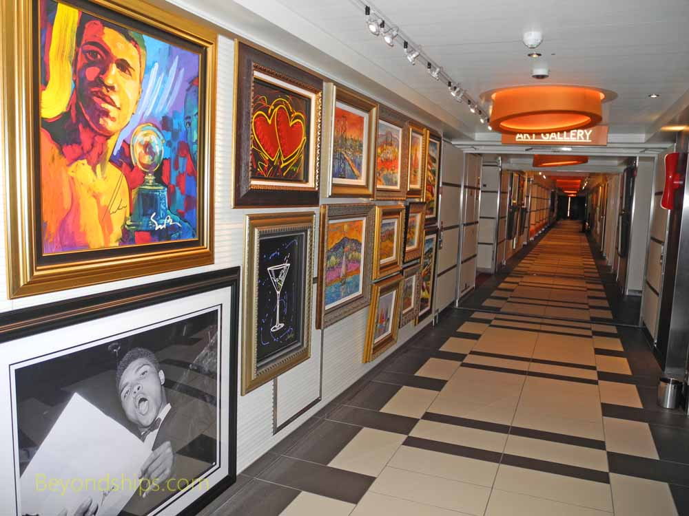 Art gallery, Carnival Vista, cruise ship