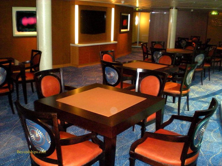 Card room, cruise ship Queen Elizabeth