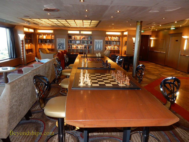 Oosterdam cruise ship, library
