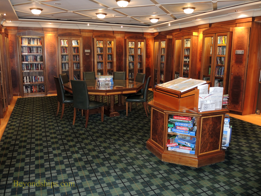 Oriana cruise ship, library
