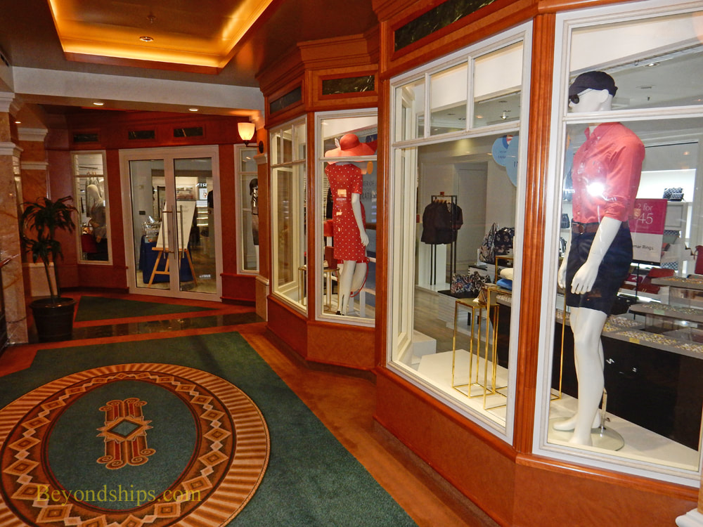 Shops, cruise ship Queen Elizabeth