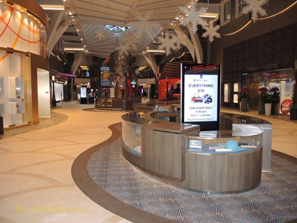 Harmony of the Seas shops