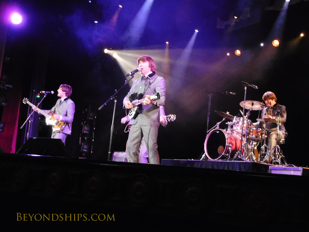 Beatles Experience performing in Cruise ship Queen Victoria Royal Court Theatre