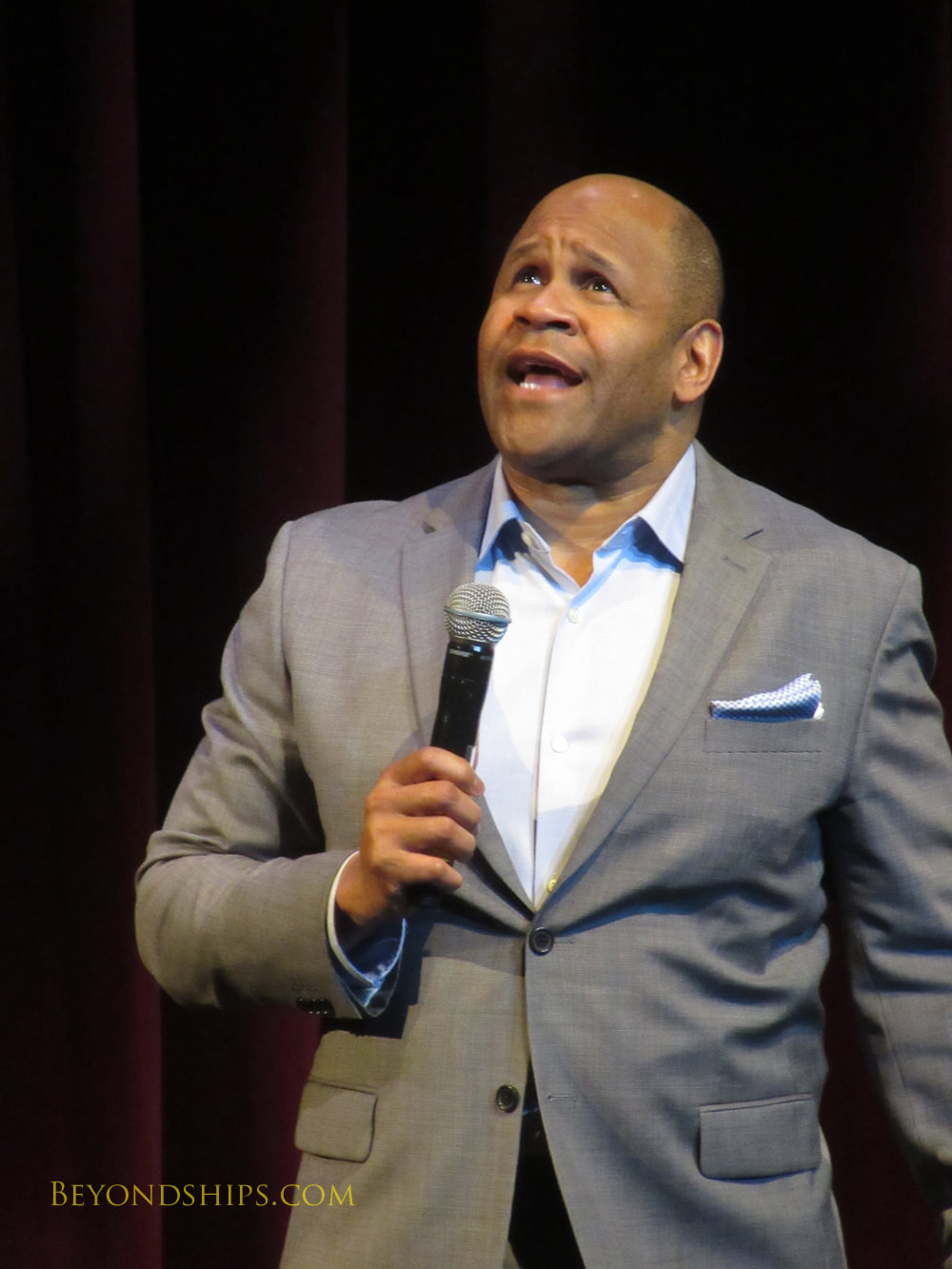 Rondell Sheridan in Cruise ship Queen Victoria Royal Court Theatre