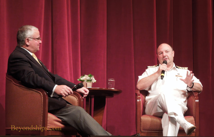 Interview in Cruise ship Queen Victoria Royal Court Theatre