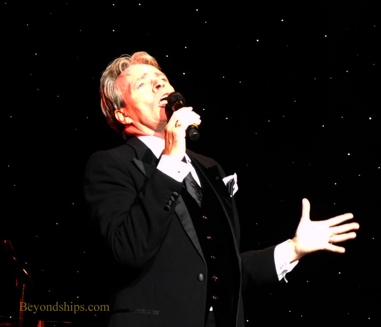 Allan Stewart singing in Cruise ship Queen Victoria Royal Court Theatre