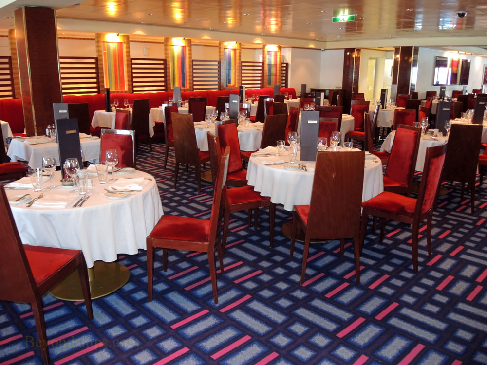 Norwegian Jade cruise ship, main dining room Alizar