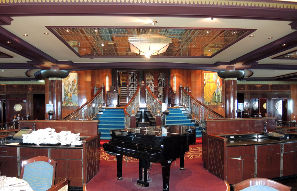 Norwegian Jade cruise ship, main dining room Grand Pacific