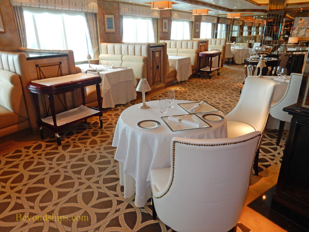 Queen Elizabeth cruise ship, The Verandah restaurant