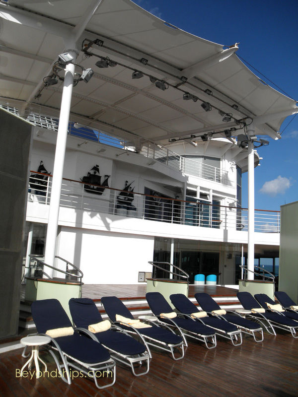 Cruise ship Celebrity Constellation pools area