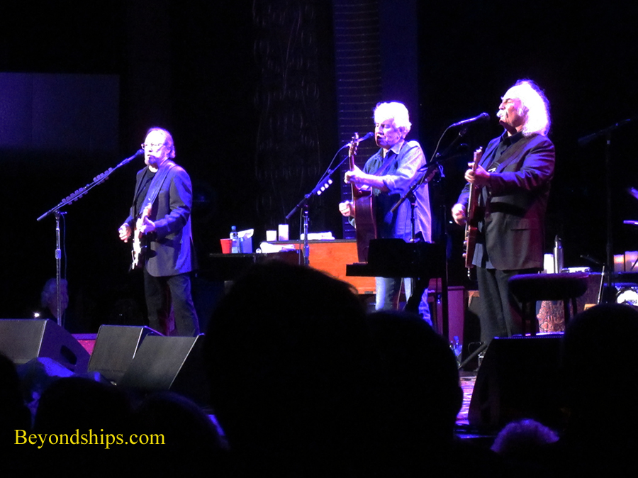 Queen Mary 2, Royal Court Theatre, Crosby Stills and Nash