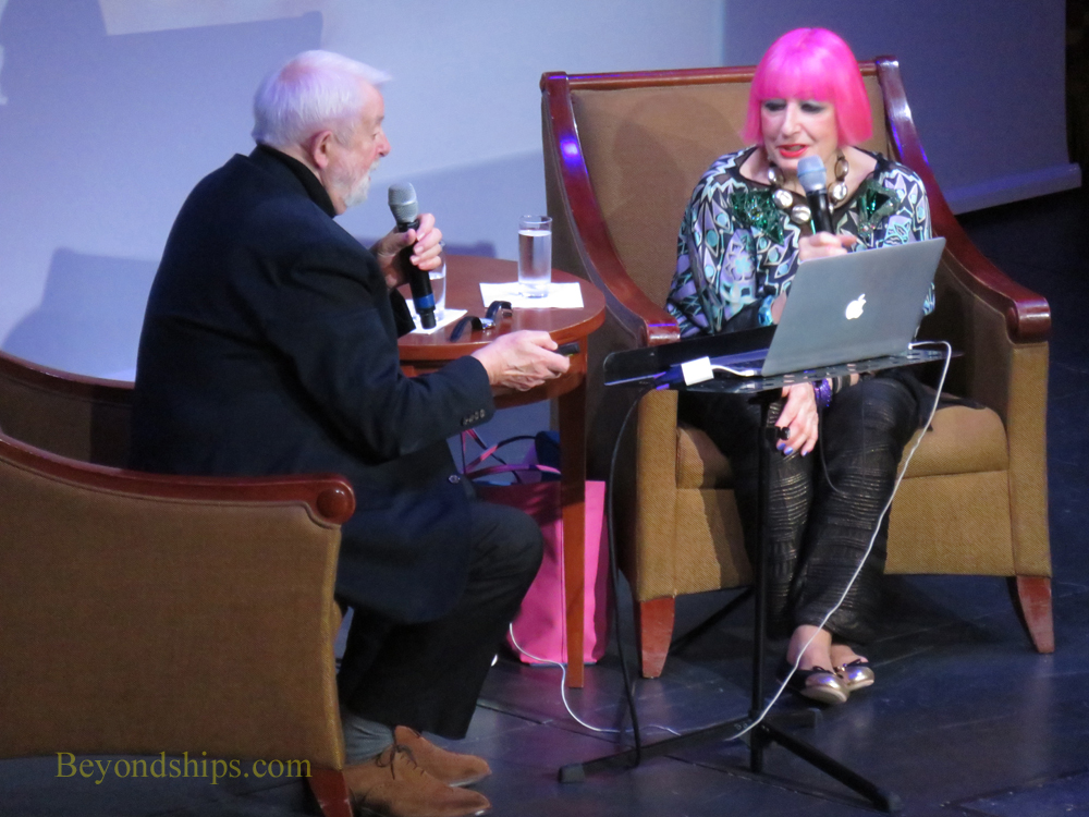 Queen Mary 2, Royal Court Theatre, Colin McDowell and Zandra Rhodes