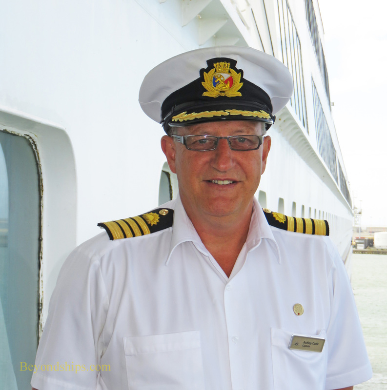 Cruise ship Oriana, Captain Ashley Cook
