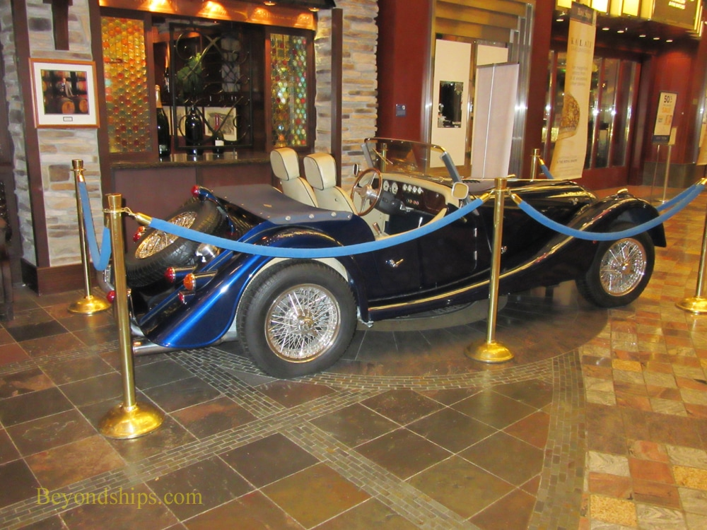 Freedom of the Seas cruise ship, classic car