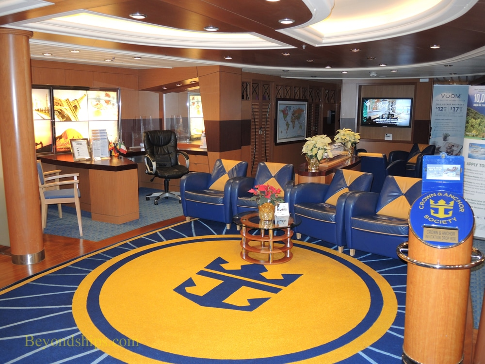 Freedom of the Seas cruise ship, Crown & Anchor office