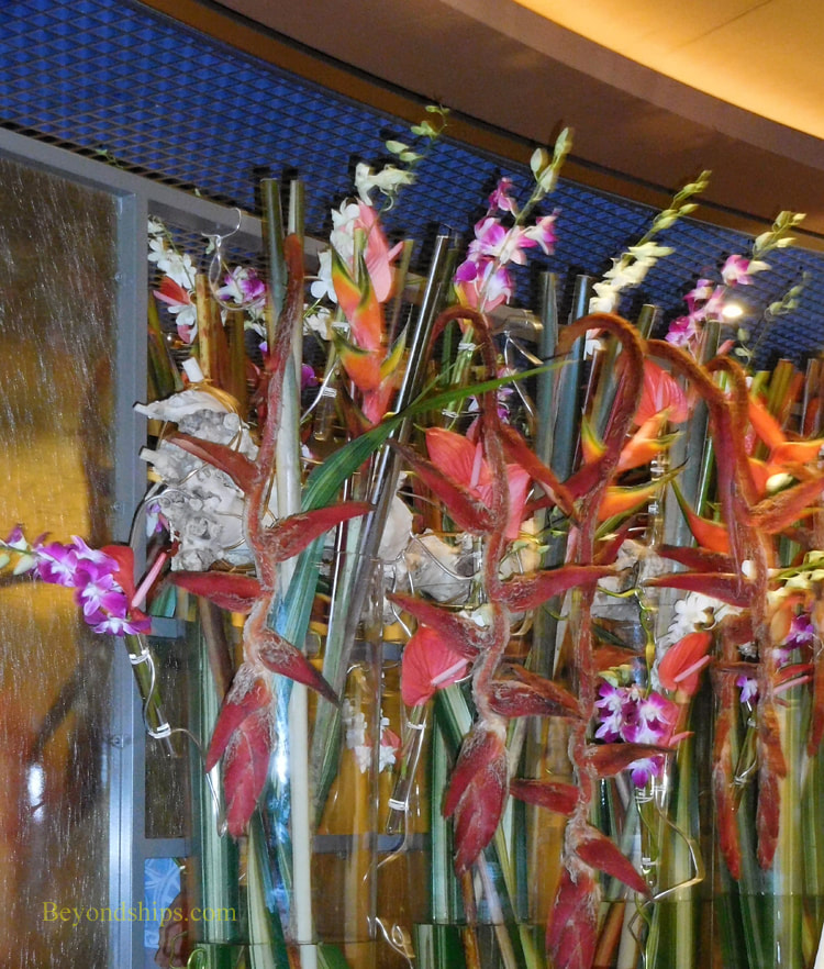Cruise ship Oosterdam, flowers