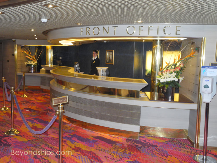 Cruise ship Zuiderdam, guest services