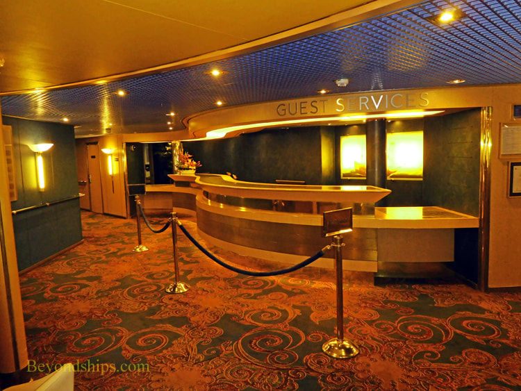Cruise ship Oosterdam, guest services