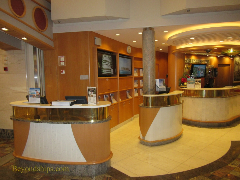 Freedom of the Seas cruise ship, shore excursions desk