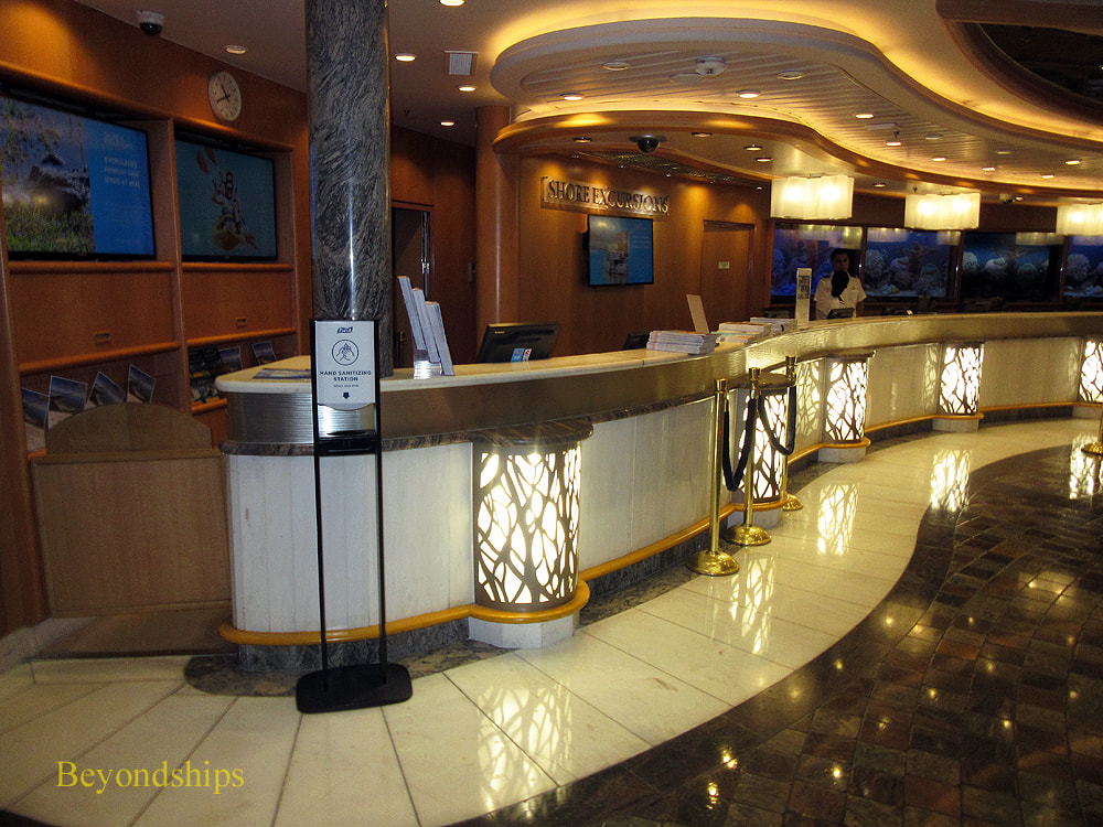 Independence of the Seas cruise ship, shore excursions desk