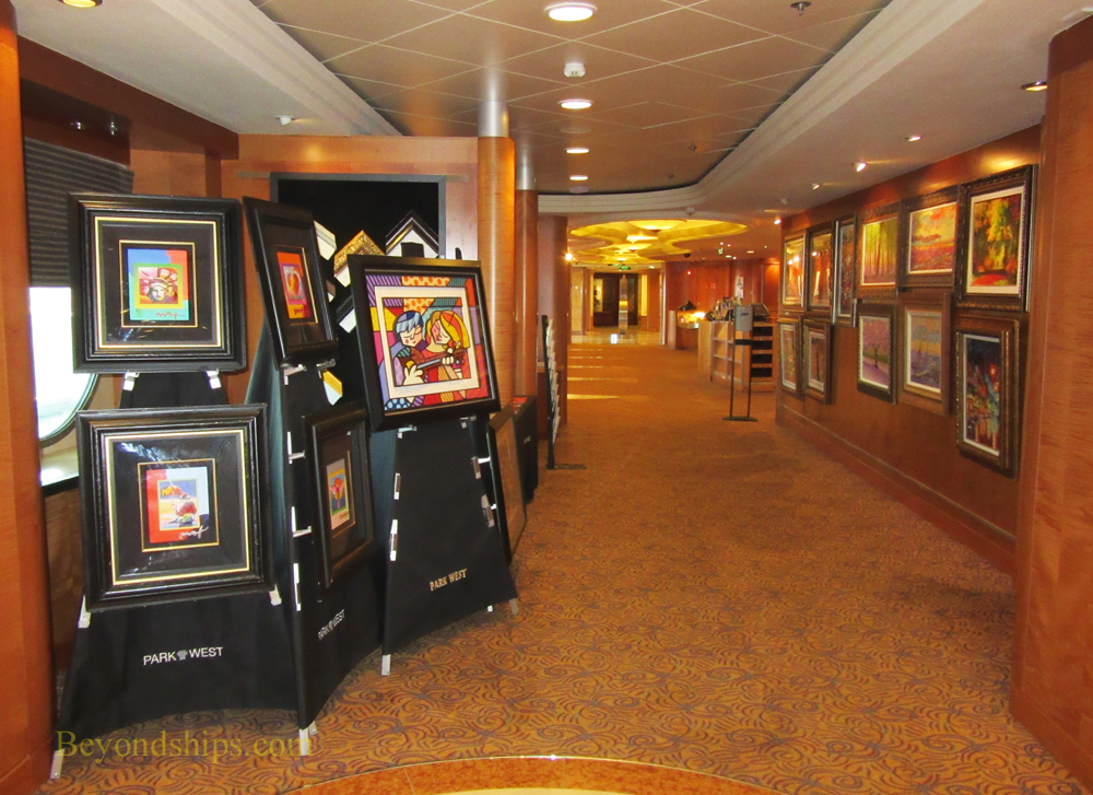 Serenade of the Seas, art gallery