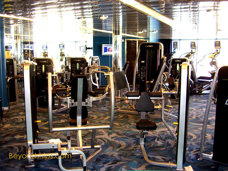 Cruise ship Noordam fitness center