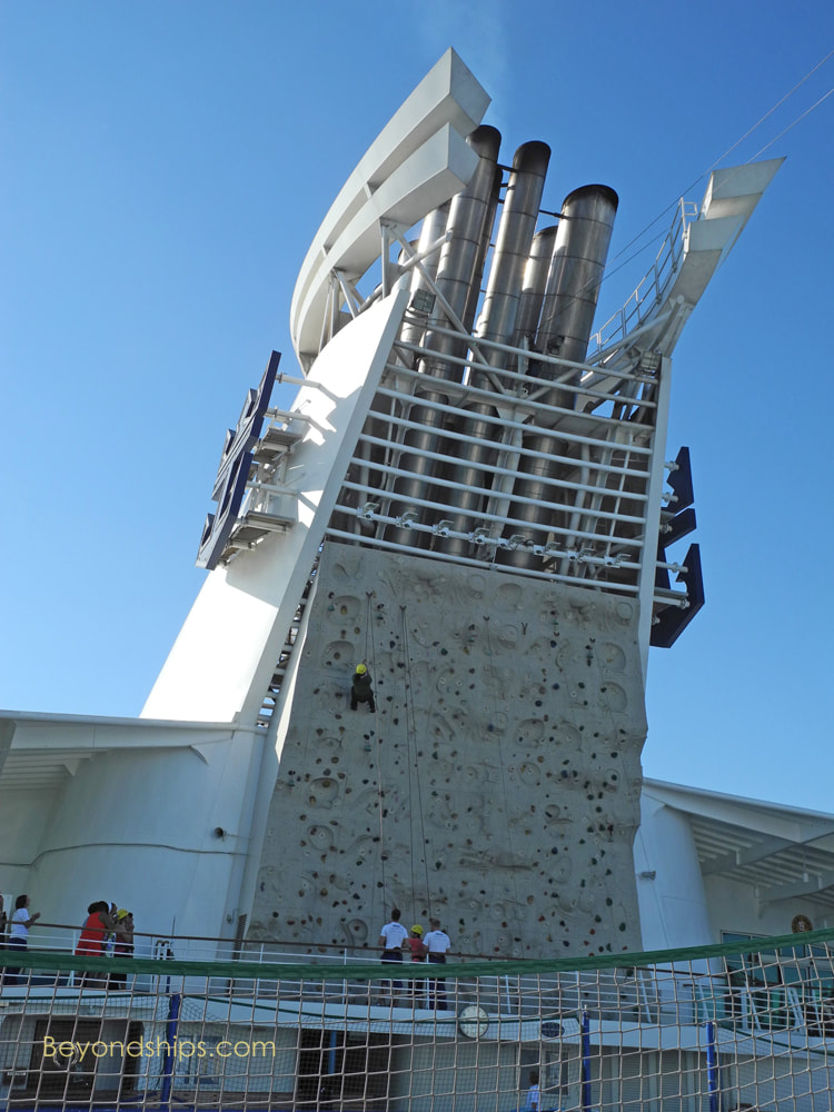 Cruise ship Adventure of the Seas rock climbing wall