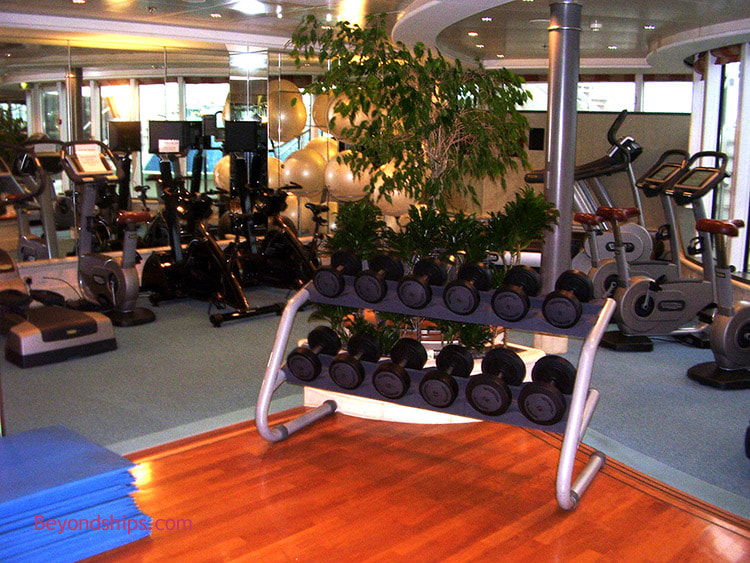 Cruise ship Aurora fitness center