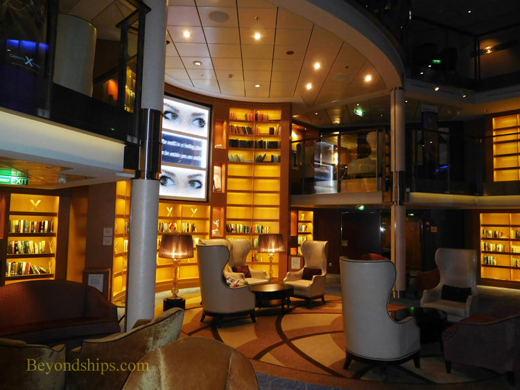 Cruise ship Celebrity Reflection library