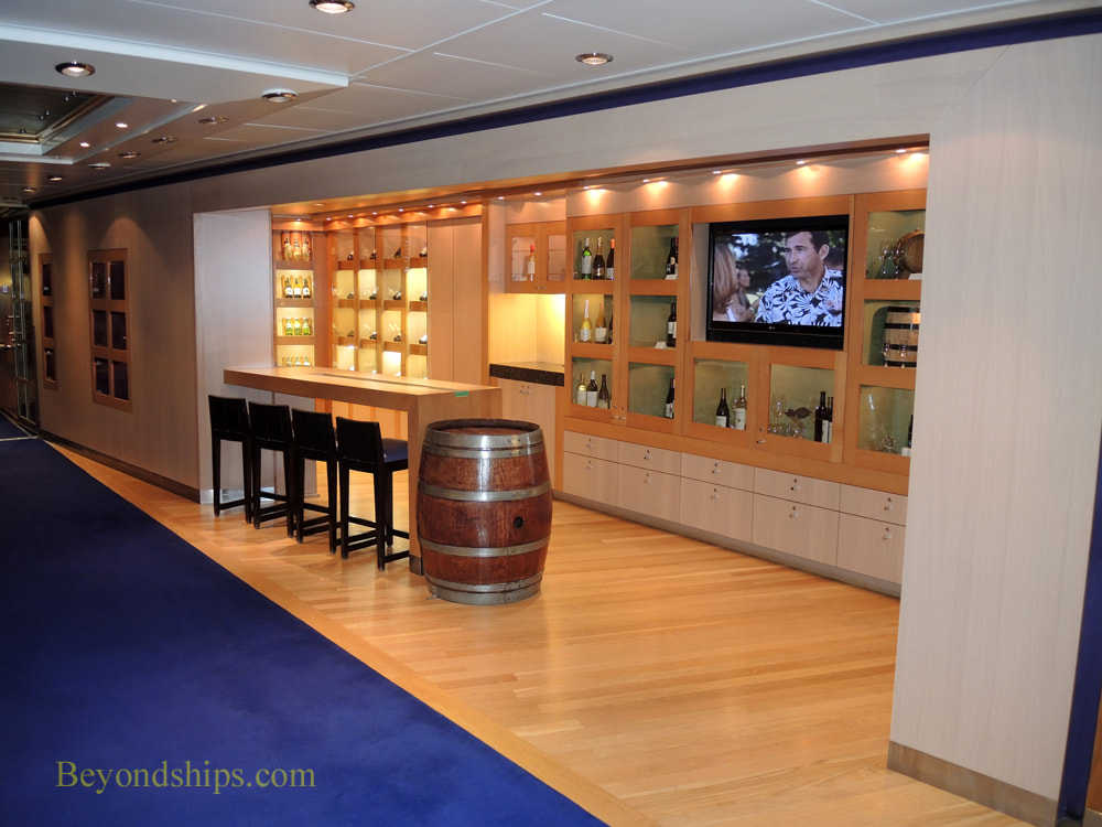 Cruise ship Rotterdam wine tasting room