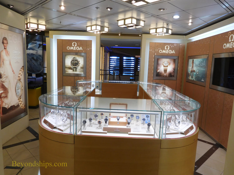 Cruise ship Celebrity Reflection shops