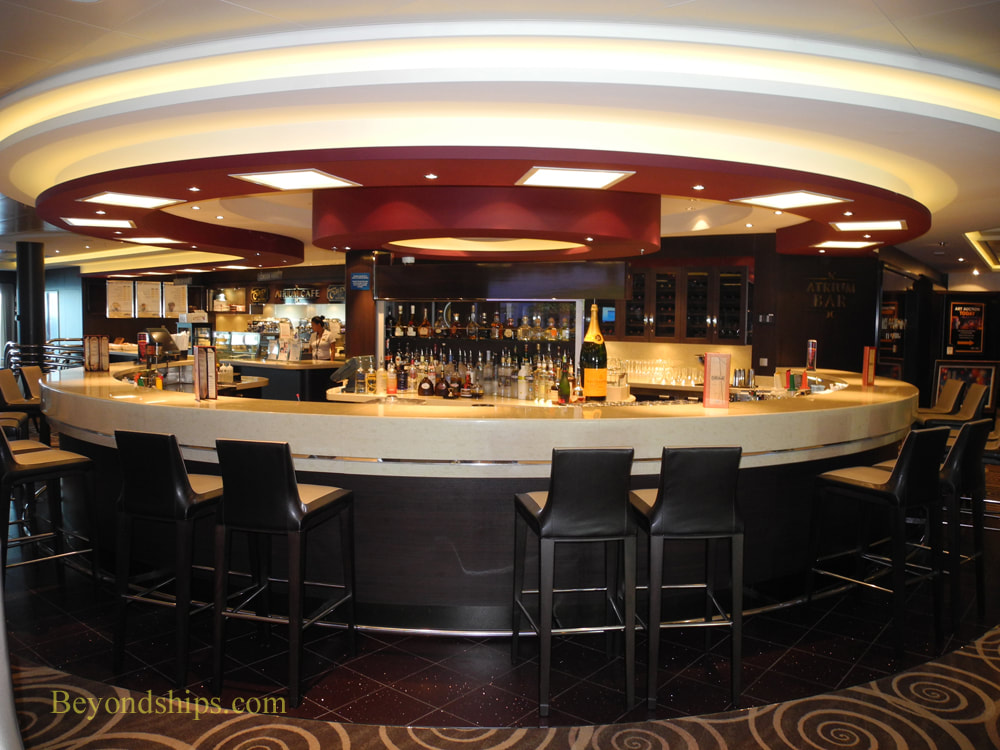 Atrium Bar, Carnival Vista, cruise ship