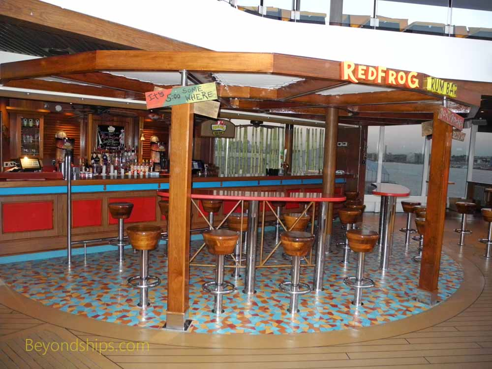 Red Frog Rum Bar, Carnival Vista, cruise ship