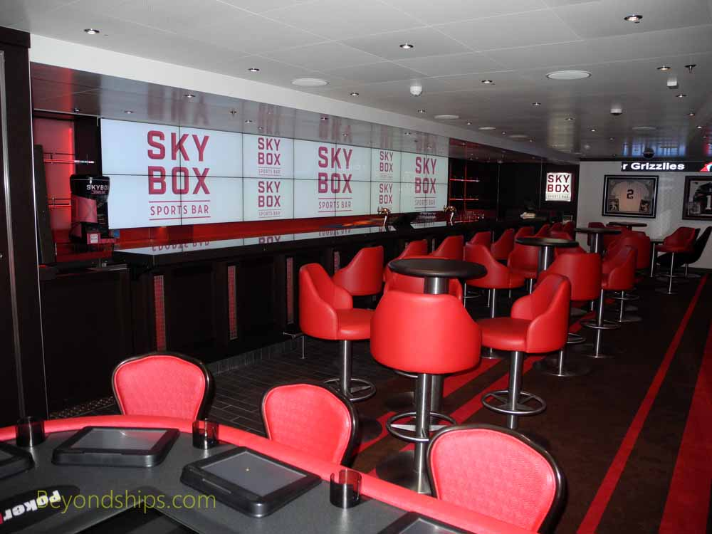 Sky Box bar, Carnival Vista, cruise ship