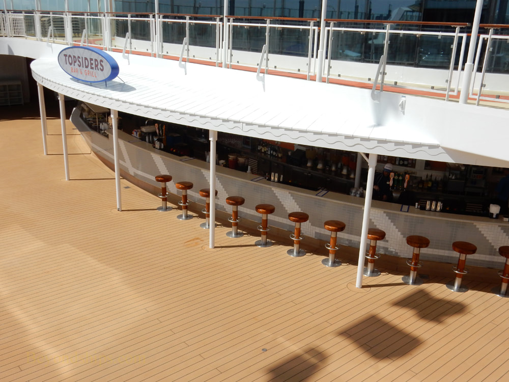 Cruise ship Norwegian Jade, bars and lounges, Topsiders