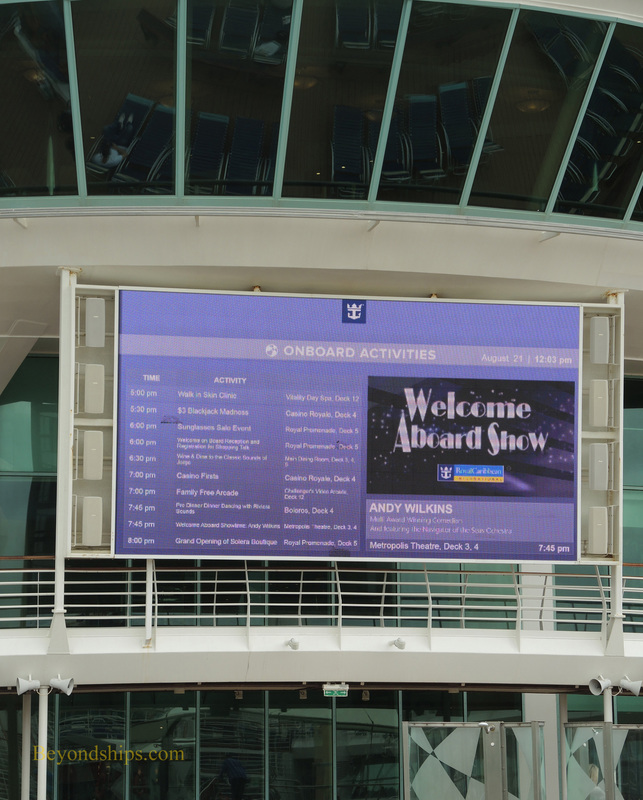 Navigator of the Seas, cruise ship, LED screen