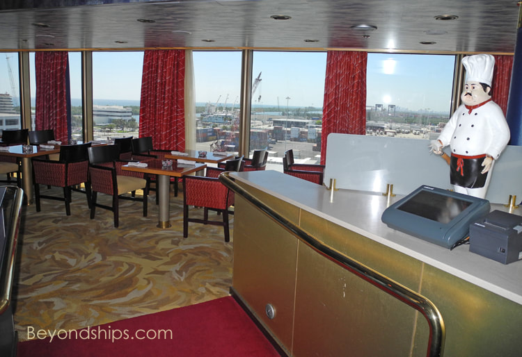 Cruise ship Zuiderdam  dining