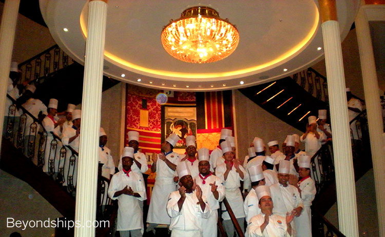Independence of the Seas, cruise ship, main dining room chefs