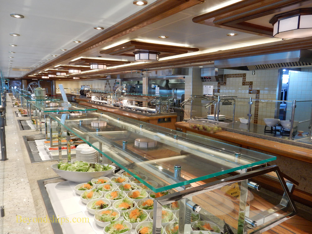 Cruise ship Queen Elizabeth buffet