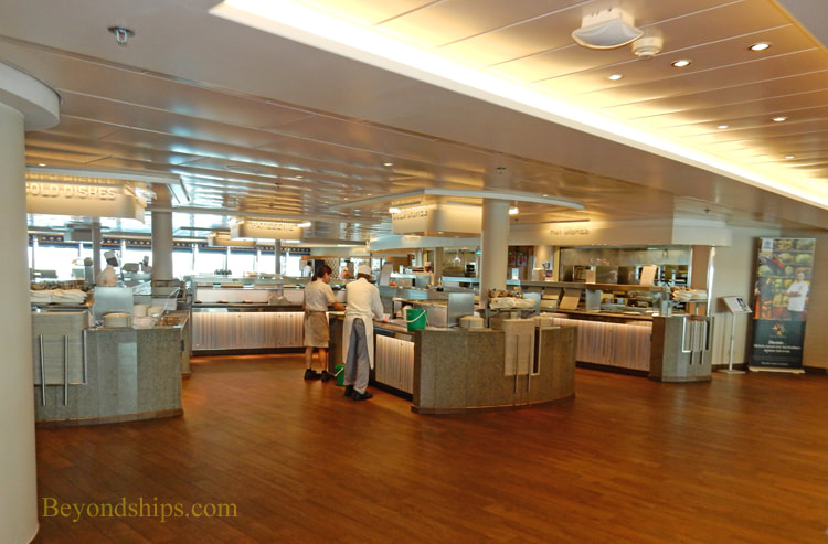 Cruise ship Aurora complimentary dining venues